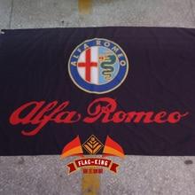 Флаг ALFA ROMEO, 3x 5ft полиэстер, ALFA ROMEO баннер
