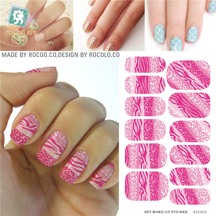 Water Transfer Golden Diamond Jewelry Design Nails Stickers Manicure ...