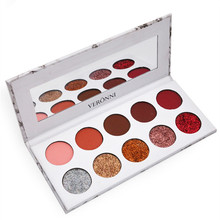 Explosion models new marble 10 color eyeshadow tray sequins diamond pearl matte makeup plate hot
