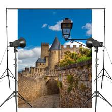 150x220cm Blue Sky Photography Background Ancient Castle Architectural Landscape Backdrop Studio