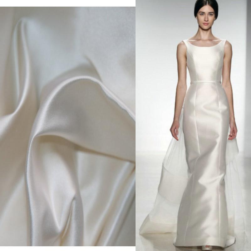 Bridal Fabrics High Quality Silk Duchess Satin Fabric For Wedding Dress trophy
