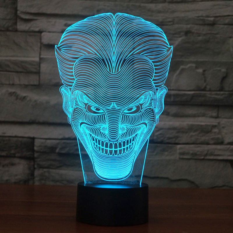 olorful USB Joker 3D Table Lamp Luminaria LED Night Light Remote Switch Decorative Lighting Atmosphere Lamp Holiday Gifts (3)