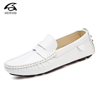 Mens Shoes Casual Brands Slip On Formal Luxury Shoes Men Loafers Moccasins Genuine Leather Brown Driving Shoes