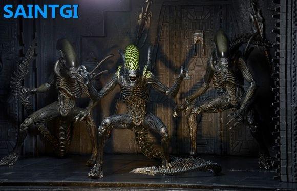 SAINTGI Alien:Covenant Alien vs. Predator Alien PVC 18CM Action Figure Collection Model Dolls Kids Toys Free Shipping kai neca 2 pack alien vs predator action figure set 7