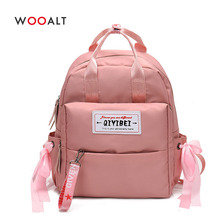 2019 Women Canvas Backpacks High Quality Oxford Students School Bag for Teenage Girls Travel Korean Ribbons Rucksack mochila