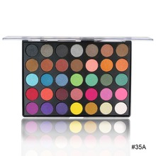 Fashion Explosion 35 Color Eyeshadow Palette Pearlescent Matte Eye Makeup Girl eye makeup shadow low price promotion