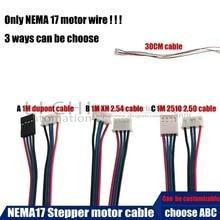 Free shipping 5pcs CE certification NEMA17 cable 17HS4401 4-lead Nema 17 Stepper Motor 42 motor CNC Laser for 3D printer