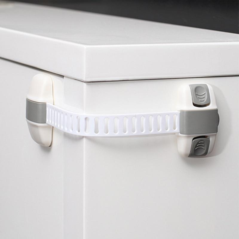 10pc/lot Child Safety Locks Adustable Length Refrigerator Lock Children Cupboard Drawer Baby Security Toddler  Safe Long Lock