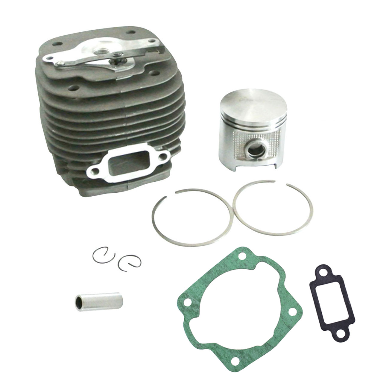 New Cylinder & Piston & Pin & Clips & Rings Kit For STIHL 070 090 Chainsaw 58mm 38mm om36 cylinder kit fits efco oleo mac om emak 436 sparta 36 37 om38 trimmer zylinder w piston ring pin clips assembly