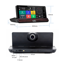 G dog V40 Full HD 7inch Touch Car DVR 3G GPS Android 4 4 Dual Camera