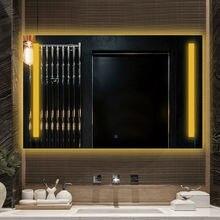 Умное антибликовое настенное зеркало для ванной комнаты со светодиодной