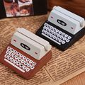 1 x  Mini Retro Typewriter desktop figurines, wooden message note clip to clip pictures photo holder Home decor Arts crafts gift
