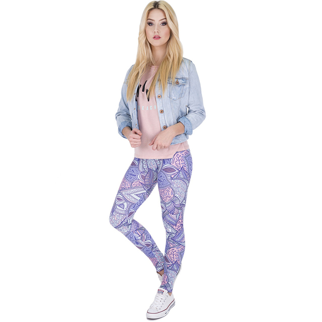Girls' Purple gungle Slim Strecthed Leggings Basic Casual Funny High Waist Skinny Pants Pantalones pitillo panty Leggin Female