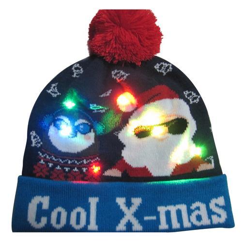 Г., 43 дизайна, светодиодный Рождественский головной убор, Шапка-бини, Рождественский Санта-светильник, вязаная шапка для детей и взрослых, для рождественской вечеринки - Цвет: 13