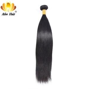 """Image 2 - Aliafee włosy peruwiańskie proste włosy wyplata 3/4 oferty pasma prostych włosów 8 """" 30"""" ludzki włos do przedłużania włosów Remy Natural Color"""