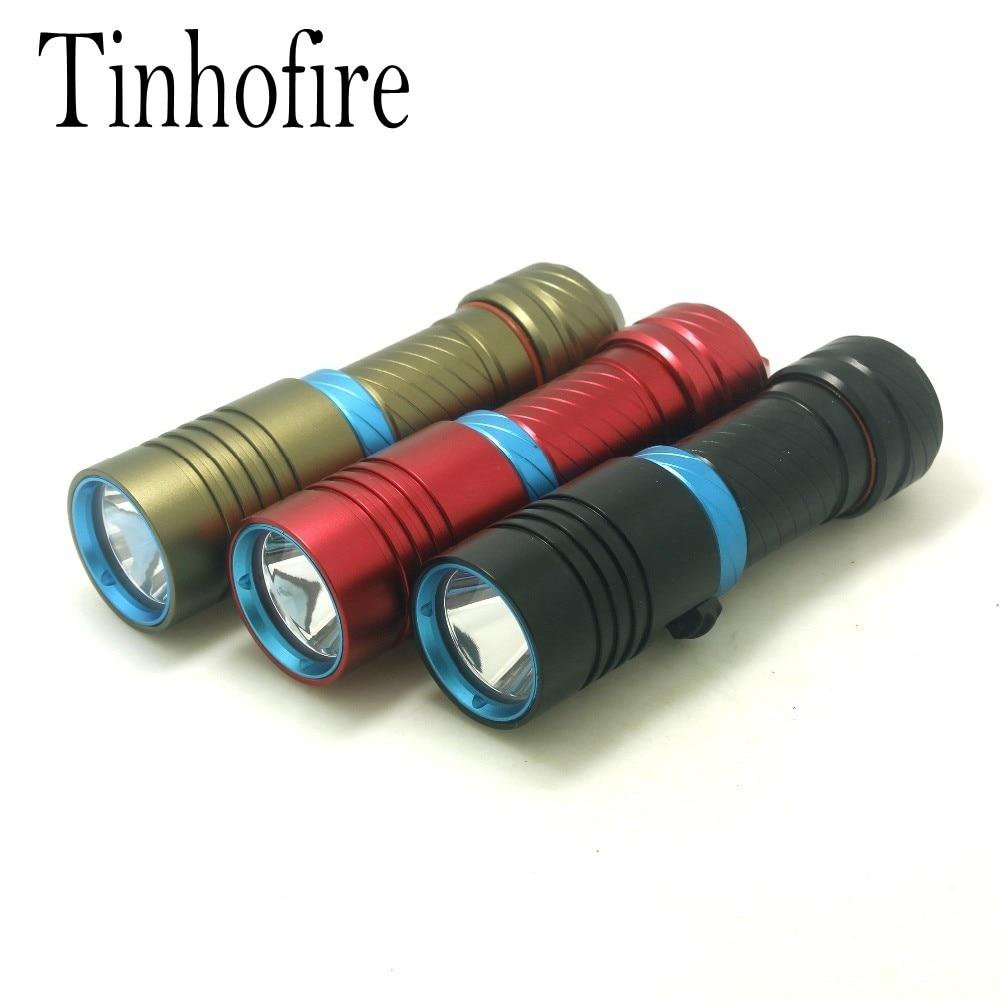 Tinhofire Diving 2000LM CREE XM L L2 LED Torch diving depth 100M diving Underwater flashlight Camping
