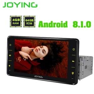 Image 5 - JOYING واحد الدين سيارة راديو الروبوت 8.1 4GB Ram 64GB Rom دعم 3G/4G الثماني النواة GPS ستيريو FM AM DSP 6.2 بوصة العالمي autoradio