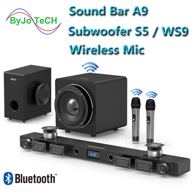 JY AUDIO A9 Bluetooth Soundbar 5.1 surround sound home theater 8 unit integrated home theater TV speaker With 8inch subwoofer