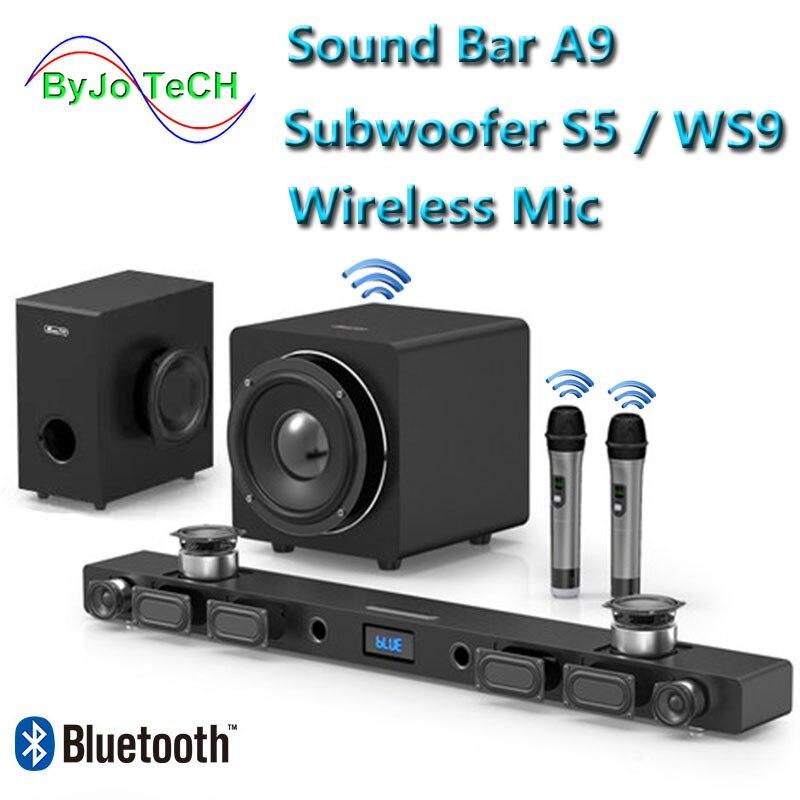 Jy áudio a9 soundbar bluetooth 5.1 surround som casa teatro 8 unidade integrado casa teatro tv alto-falante com 8 polegada subwoofer