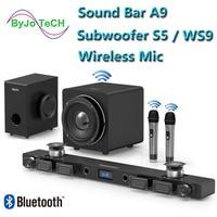 JY аудио A9 Bluetooth Саундбар 5,1 объемный звук домашнего кинотеатра 8 динамиков integrated домашний кинотеатр ТВ динамик с 8 дюймов, сабвуфер