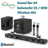 JY AUDIO A9 Bluetooth Саундбар 5,1 объемный звук домашний кинотеатр 8 динамик Встроенный домашний кинотеатр тв динамик с 8 дюймов, сабвуфер