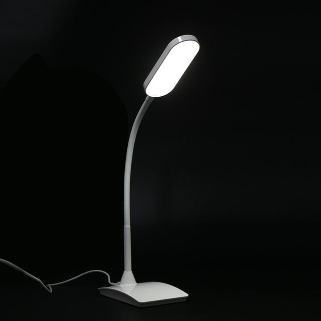 FX002B 3-nível Flexível Recarregável LEVOU lâmpada de Leitura Proteção Para Os Olhos Lâmpada de Mesa Brilhante Regulável Candeeiro de Mesa Ajustável
