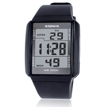 ¡ Caliente!!! Amantes de La Moda XONIX Relojes Deportivos A Prueba de agua 100 M Hombres y Mujeres Reloj Digital de Natación Buceo Mano reloj Montre Homme
