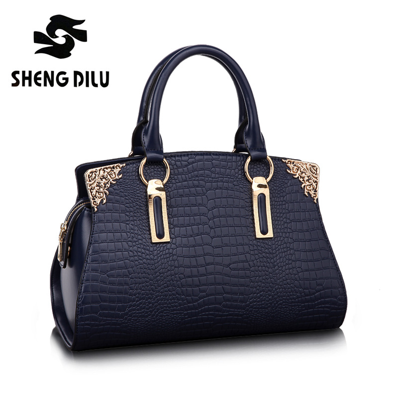 European fashion handbag shengdilu brand new 2018 women 100% genuine leather High-end tote shoulder Messenger bag free Shipping yuanyu new 2017 hot new free shipping crocodile leather women handbag high end emale bag wipe the gold