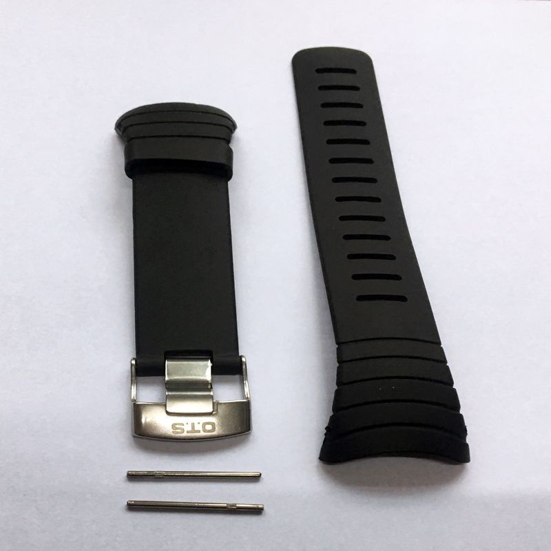 OTS 7005 Waterproof TPU Silicone Rubber Core Watch Spare Strap 210MM Length Band 24MM Width Repair Adjustable Replacement (7)