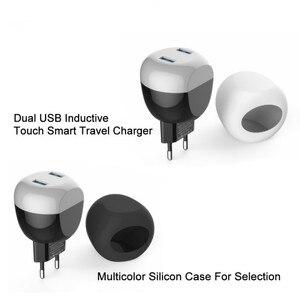 Image 5 - VOXLINK usb ładowarka sterowanie dotykowe led inteligentna ładowarka podróżna usb ładowanie indukcyjne dla iPhone Samsung Xiaomi ładowarka do telefonu komórkowego