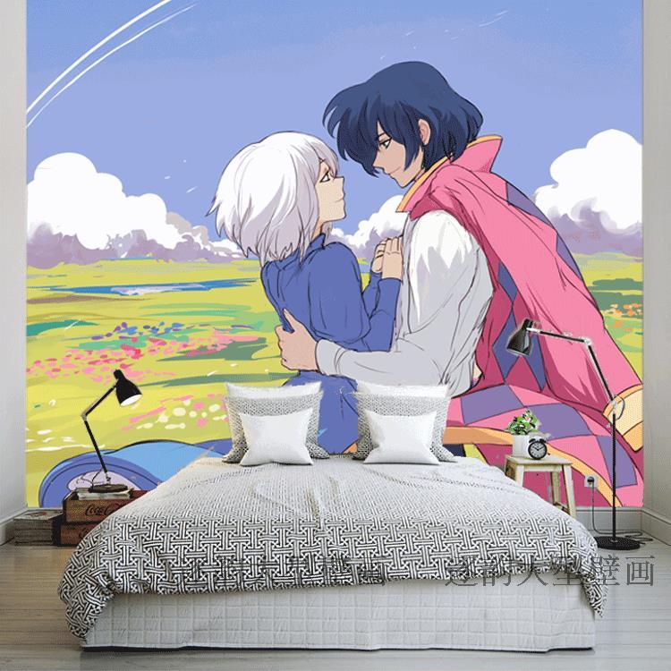 Free Shipping Japanese Anime Wallpaper Romantic Love Theme