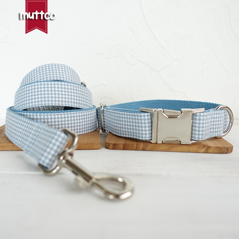 MUTTCO retailing self-design British style collar THE AEGEAN SEA homemade unique dog collars and leashes 5 sizes UDC022