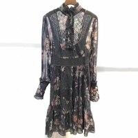Роскошное платье для женщин дизайнеры взлетно посадочной полосы летние богемные 2018 Длинные платья цветочный принт