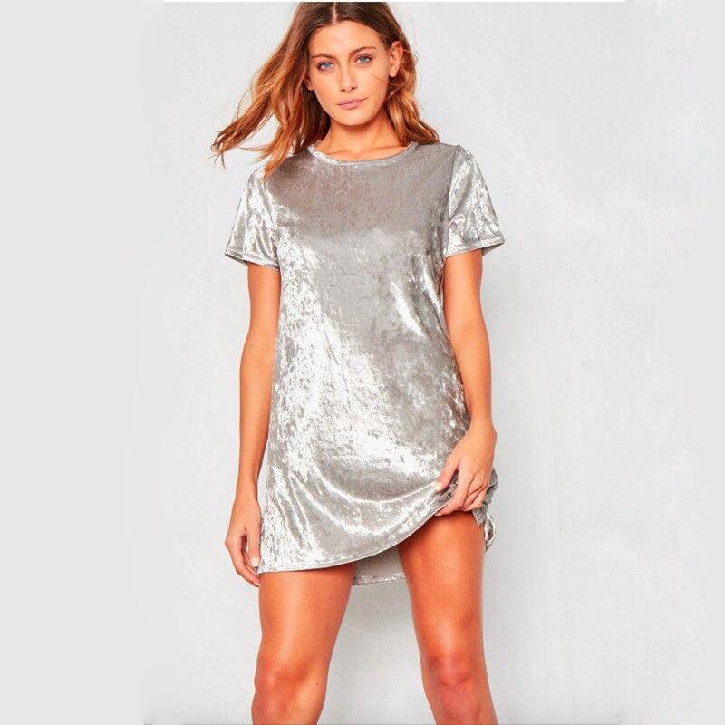 Spring Summer velvet dress women short-sleeved HTB1Nfkfd1LM8KJjSZFqq6y7