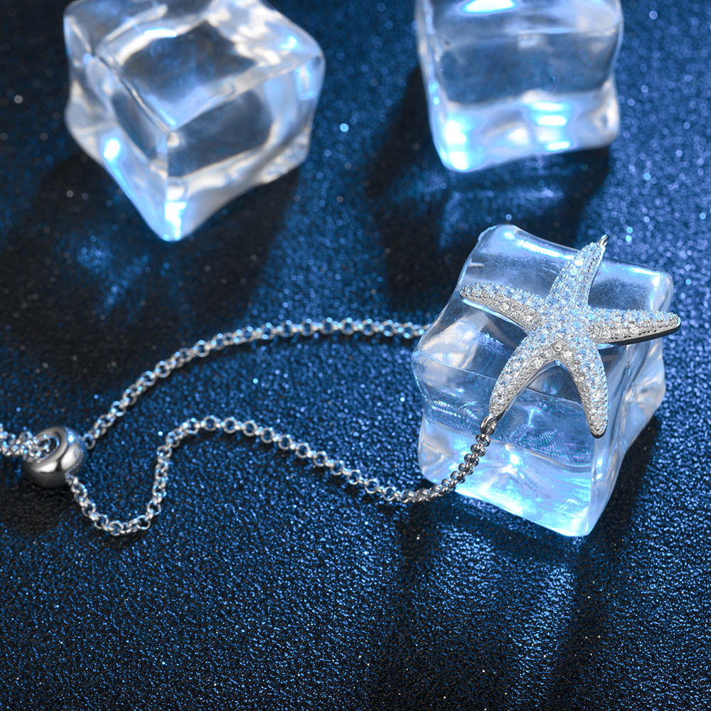 Cubic Zirconia Starfish Bracelet