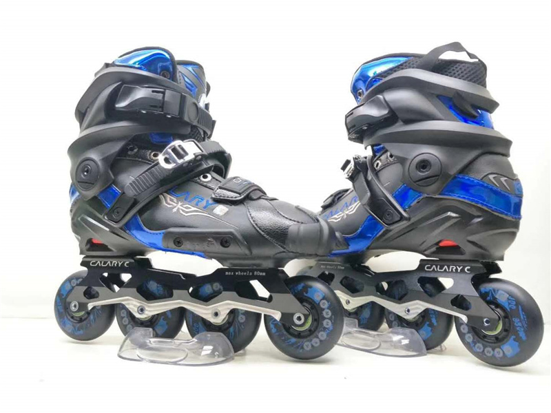 Professional Slide Inline Skates Shoes for SEBA Brake Sliding Skating Patines, CNC Alloy Frame with 76mm 80mm PU Wheel professional speed skate shoes inline skates frame adults kids roller skating boots frame aluminium alloy frame
