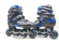 Professional Slide Inline Skates Shoes for SEBA Brake Sliding Skating Patines, CNC Alloy Frame with 76mm 80mm PU Wheel