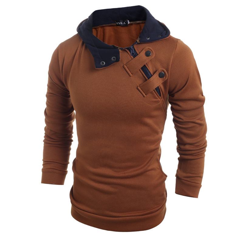 Drop Shipping Brand New Fashion Men Slim Casual Men's Discount Sweater 4 Colors  Jacket Winter Warm Hat Top Coat Plus 3XL