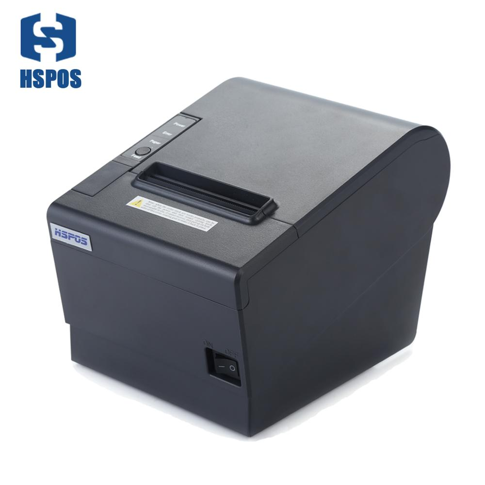 HSPOS Cheap Bill receipt 80mm thermal Printer with aut cutter Bluetooth UART ethernet for Android SDK with 1 years Warranty image