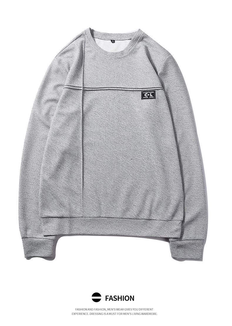 2019 New Fashion Hoodies Shirts Men Sweatshirts Male Solid Hoody Korean Styele O-Neck Autumn Spring Winter Brand Streetwears 07