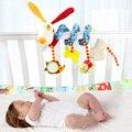 Infantil multifuncional chocalhos cama carrinho de bebê móvel toys newborn cão dos desenhos animados pendurado agarrar berço chocalho do bebê brinquedo educativo