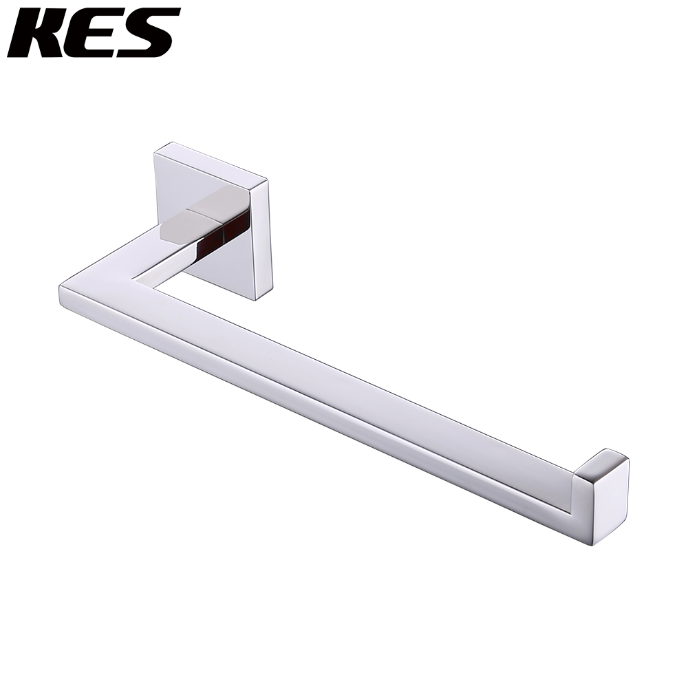 Kes Sus 304 Stainless Steel Bath Towel Holder Hand Ring Contemporary Style Wall Mount Polished Finish A22580 In Rings From Home Improvement On