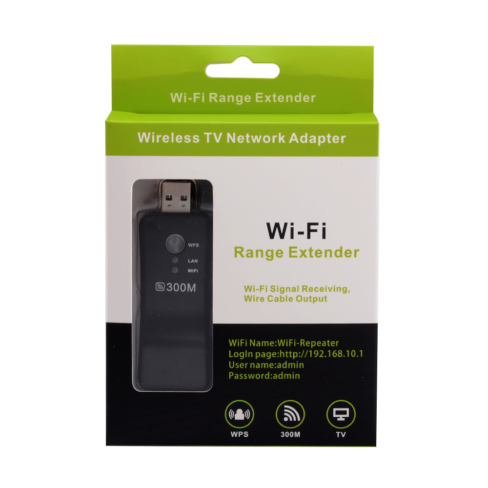 Wireless USB Universal 300Mbps Wifi Adapter RJ-45 Port Ethernet network Bridge Repeater Client for New Smart TV 5