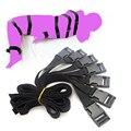 Black soft Fluid Systems 7 Pcs Full Body Fetish adjustable Bondage Belt Restraint Device Bondage set juguetes Sex Toys