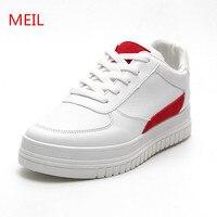 MEIL Hoogte Toenemende Schoenen Vrouw Platform sneakers vrouwen Schoenen Wit Casual Canvas schoenen sapatos Voor platform Trainers