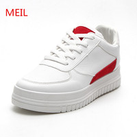 MEIL Height Increasing Shoes Woman Platform Sneakers Women Shoes White Casual Canvas Shoes Sapatos For Platform
