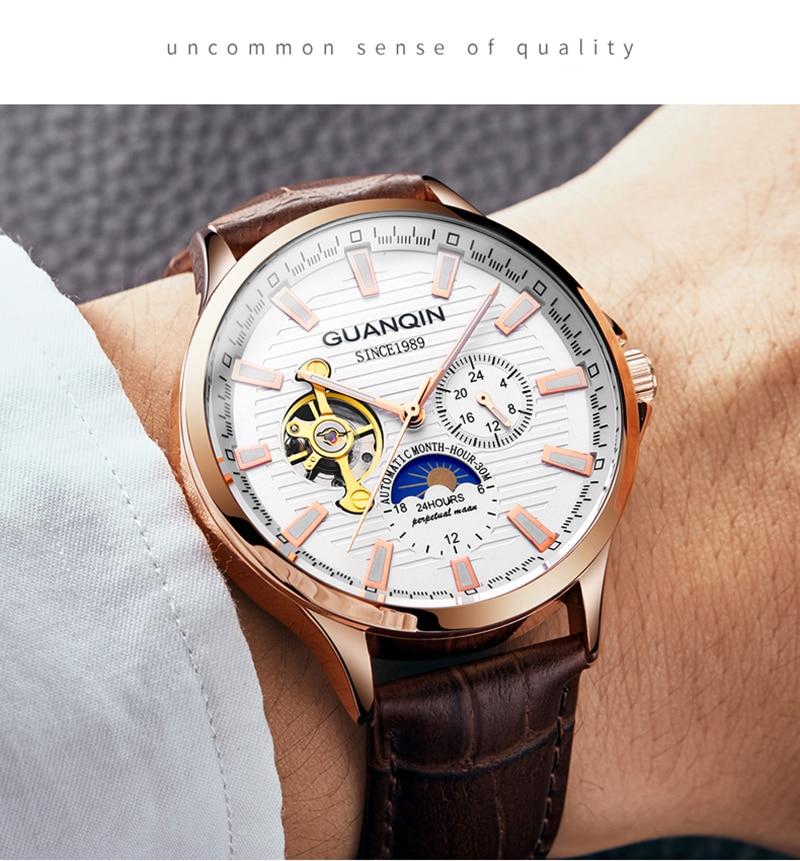 HTB1NfmUa2WG3KVjSZPcq6zkbXXa8 GUANQIN 2019 new watch men waterproof Automatic Luminous men watches top brand luxury skeleton clock men leather erkek kol saati