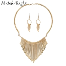 Match-Right Women Necklace Alloy Statement Necklaces Pendants Tassel Jewelry Ethnic Necklace Women Accessories NL564
