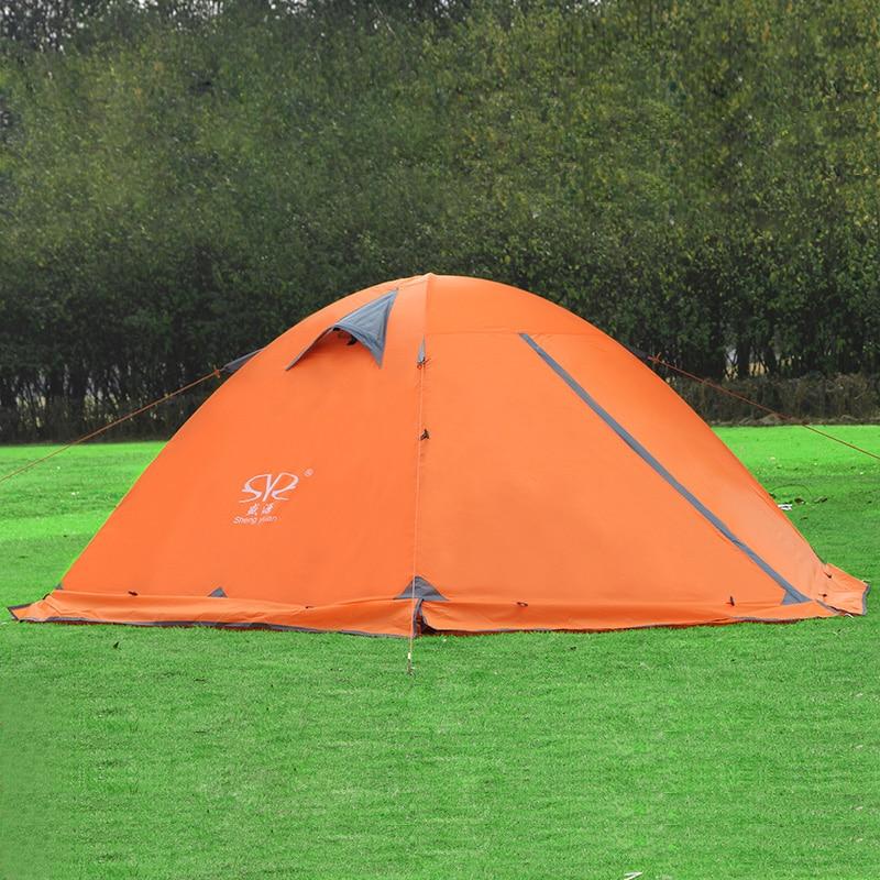 2 person camping tent double layer double door winter tents with snow skirt outdoor windproof waterproof rainproof tent цены