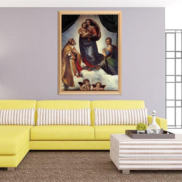 Famous Painter Raphael Sistine Madonna 5D DIY Diamond Painting Full Square Round Diamond Embroidery Sale Rhinestones
